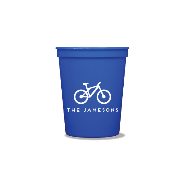 Personalized Bicycle Party Cups