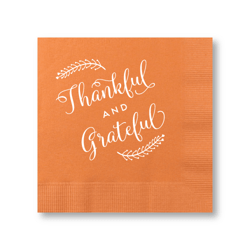 Thankful and Grateful Cocktail Napkins