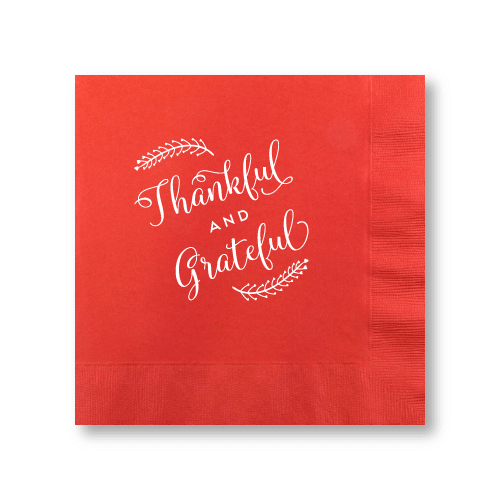 Thankful and Grateful Dinner Napkins