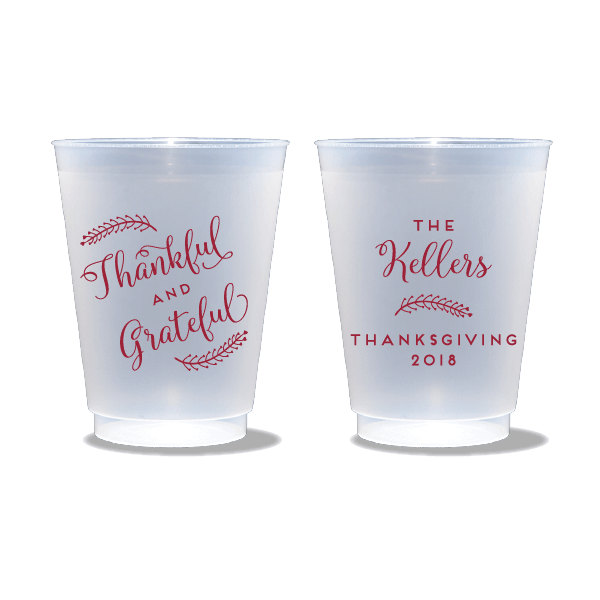 Thankful and Grateful Frosted Cups