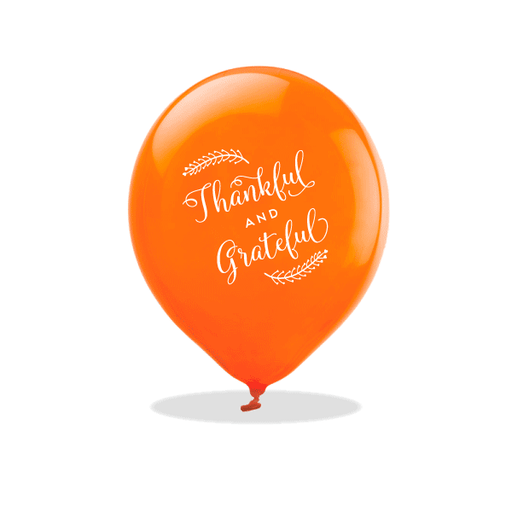Thankful and Grateful Latex Balloons