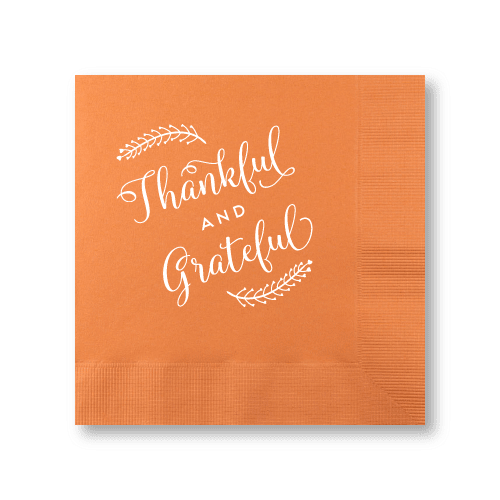 Thankful and Grateful Luncheon Napkins