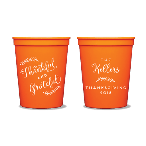 Thankful and Grateful Party Cups