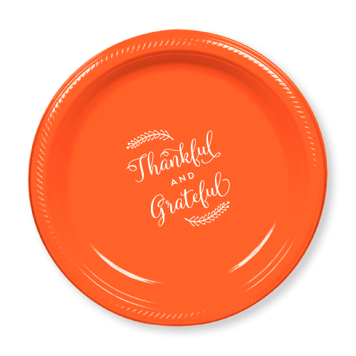 Thankful and Grateful Plastic Plates