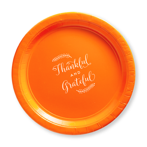 Thankful and Grateful Paper Plates