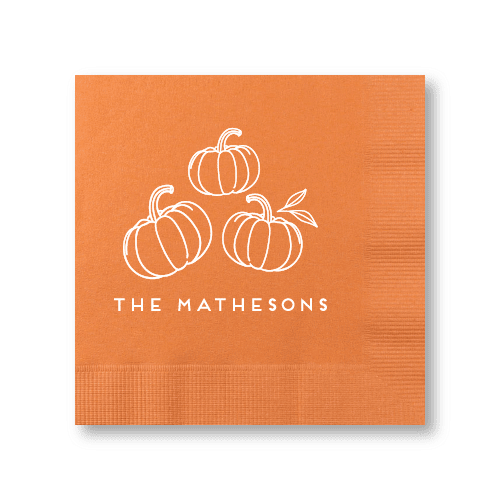 Pumpkin Patch Cocktail Napkins