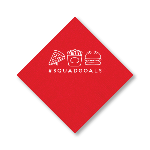#squadgoals Cocktail Napkins