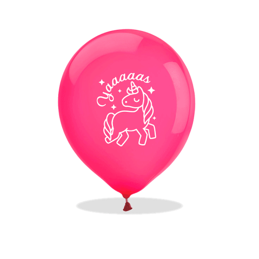 Yaaaaas Unicorn Latex Balloons
