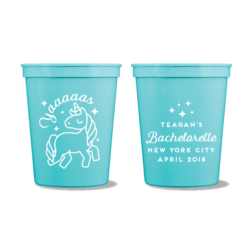Yaaaaas Unicorn Party Cups
