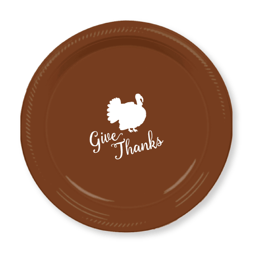 Give Thanks Plastic Plates