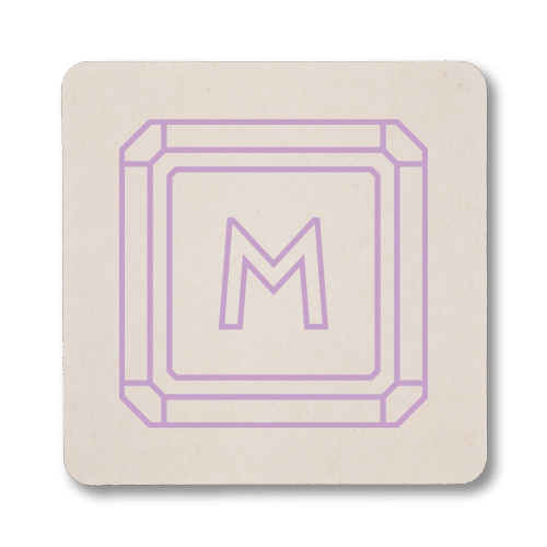 Gemstone Monogram Coasters
