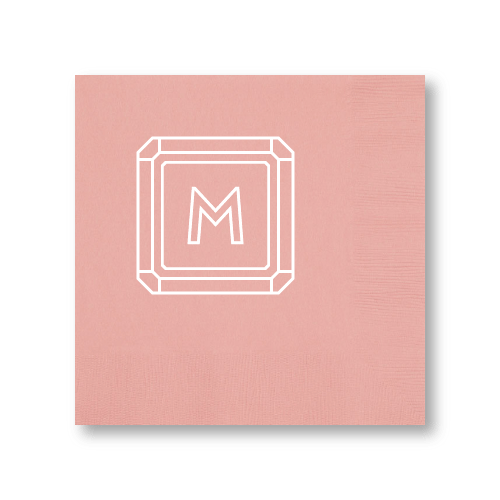 Gemstone Monogram Dinner Napkins