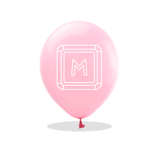Gemstone Monogram Latex Balloons