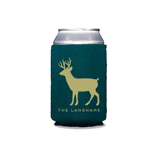 Personalized Reindeer Can Coolers