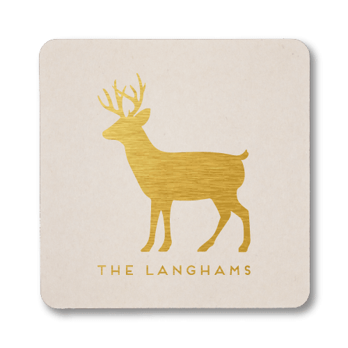 Personalized Reindeer Coasters