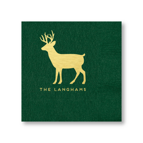Personalized Reindeer Cocktail Napkins