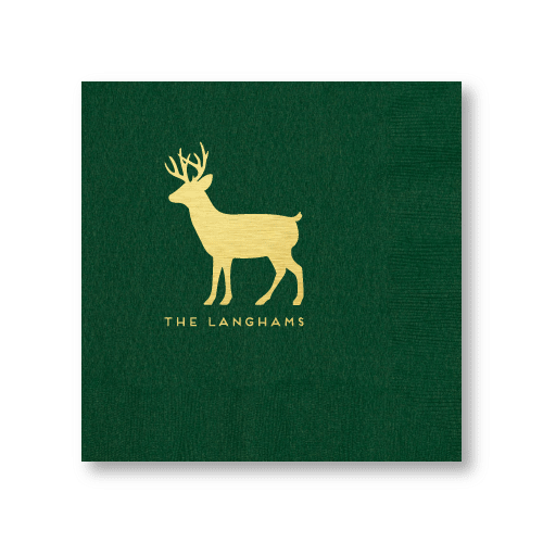 Personalized Reindeer Dinner Napkins