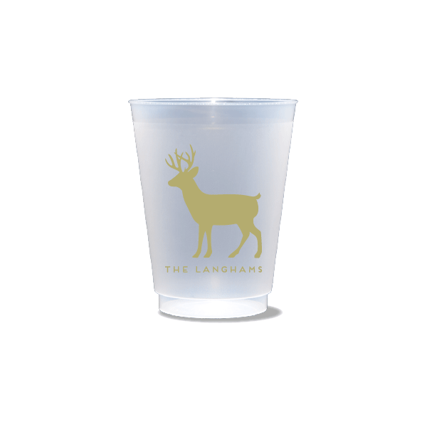 Personalized Reindeer Frosted Cups