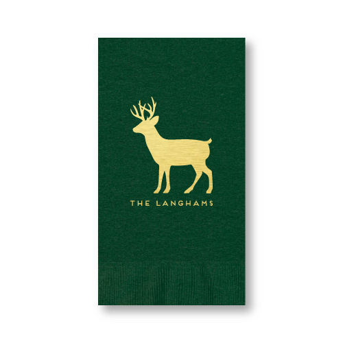 Personalized Reindeer Guest Towels