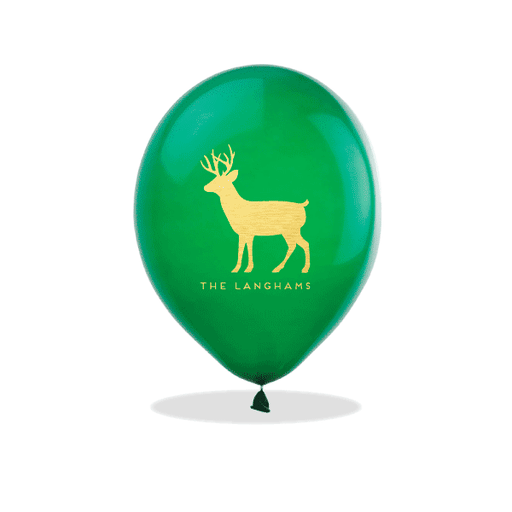 Personalized Reindeer Latex Balloons
