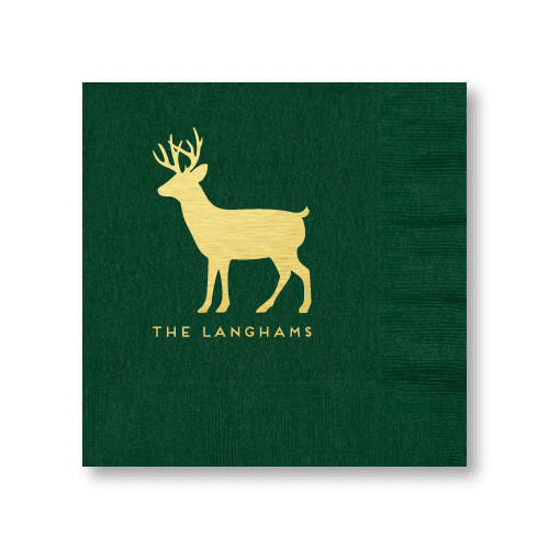 Personalized Reindeer Luncheon Napkins