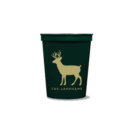 Personalized Reindeer Party Cups