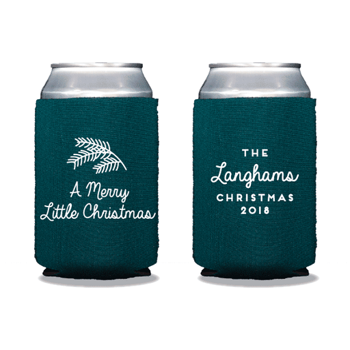 Merry Little Christmas Can Coolers