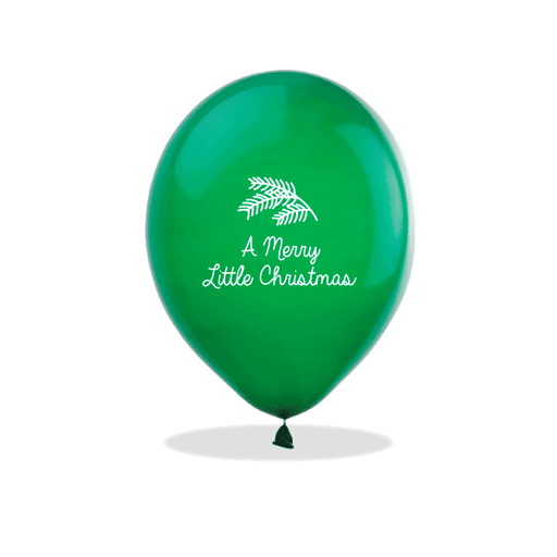 Merry Little Christmas Latex Balloons