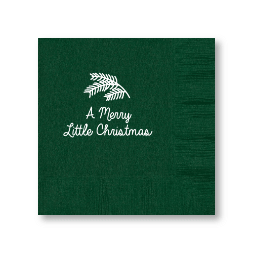 Merry Little Christmas Luncheon Napkins