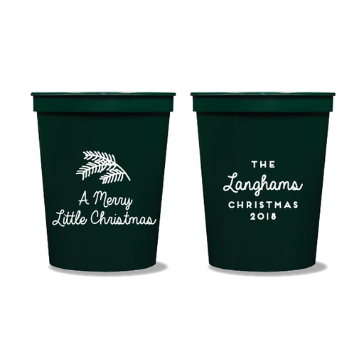 Merry Little Christmas Party Cups