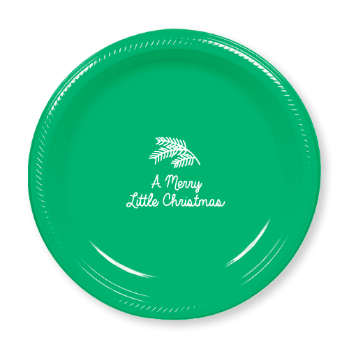 Merry Little Christmas Plastic Plates