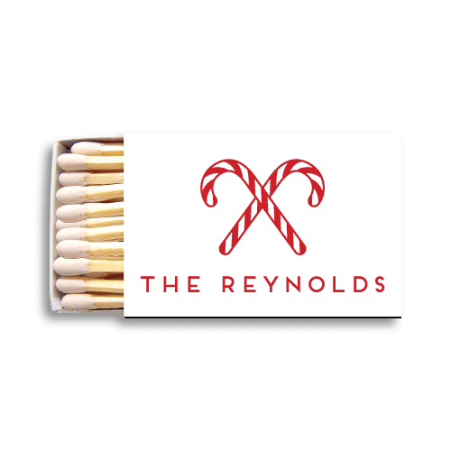 Candy Canes Matchboxes