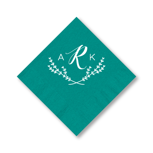 Arabella Monogrammed Cocktail Napkins