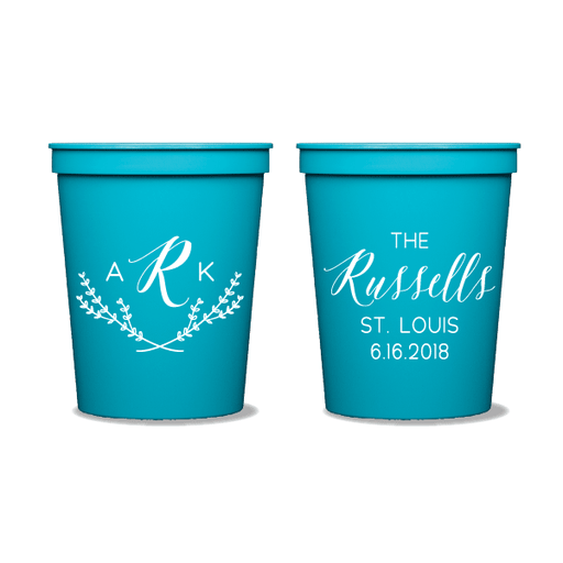 Arabella Monogrammed Party Cups
