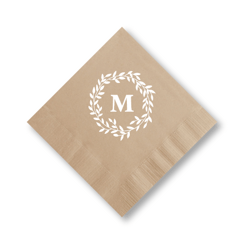 Olive Leaf Wreath Luncheon Napkins