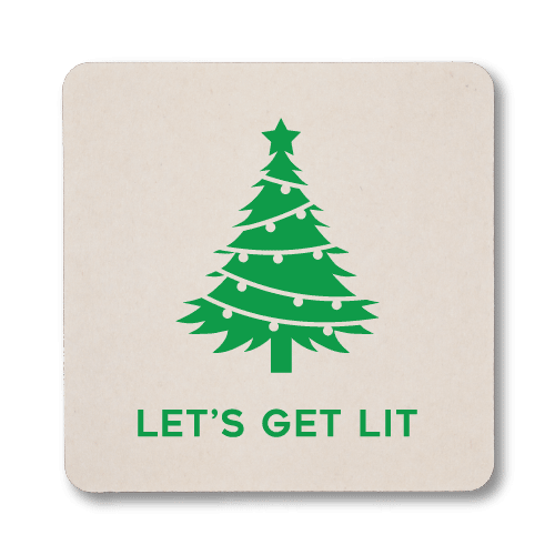 Let's Get Lit Christmas Coasters