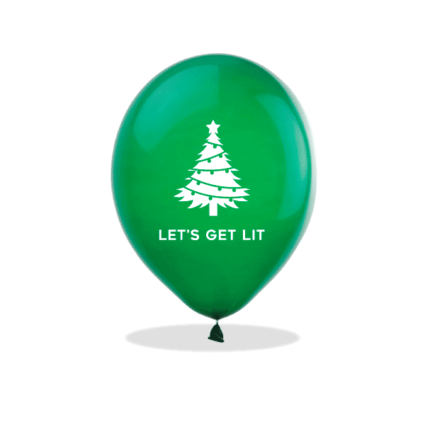 Let's Get Lit Christmas Latex Balloons