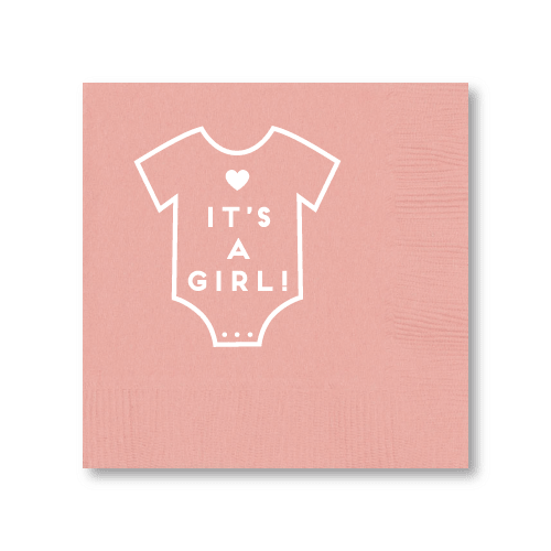 It's a Girl Onesie Cocktail Napkins