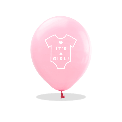 It's a Girl Onesie Latex Balloons