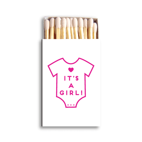 It's a Girl Onesie Matchboxes