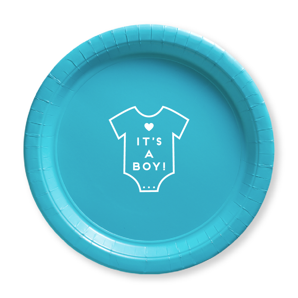 It's a Boy Onesie Paper Plates