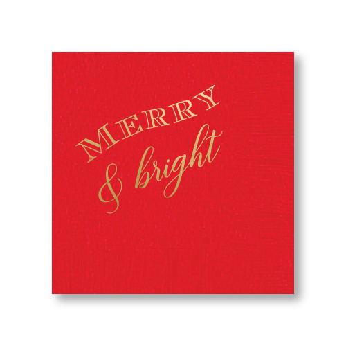 Merry & Bright Cocktail Napkins