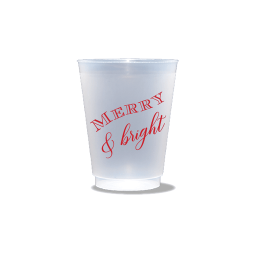 Merry & Bright Frosted Cups