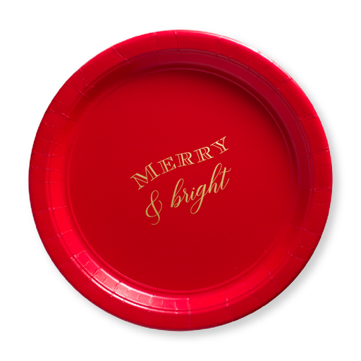 Merry & Bright Paper Plates