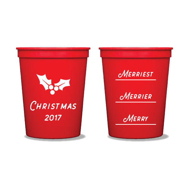 Merry Merrier Merriest Party Cups
