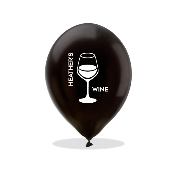Personalized Wine Latex Balloons