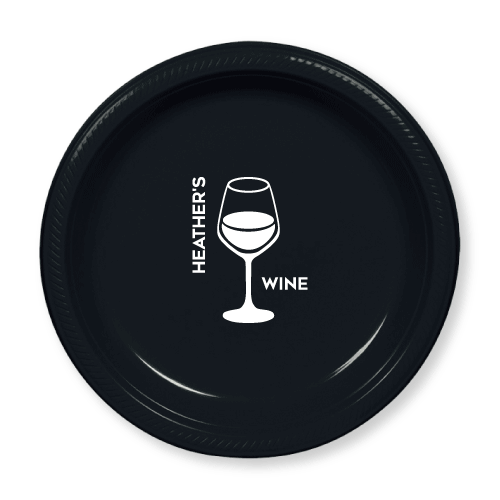 Personalized Wine Plastic Plates