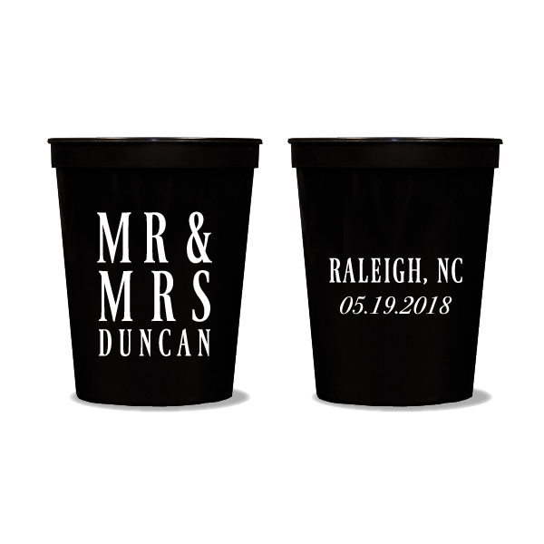 Mr & Mrs Block Party Cups
