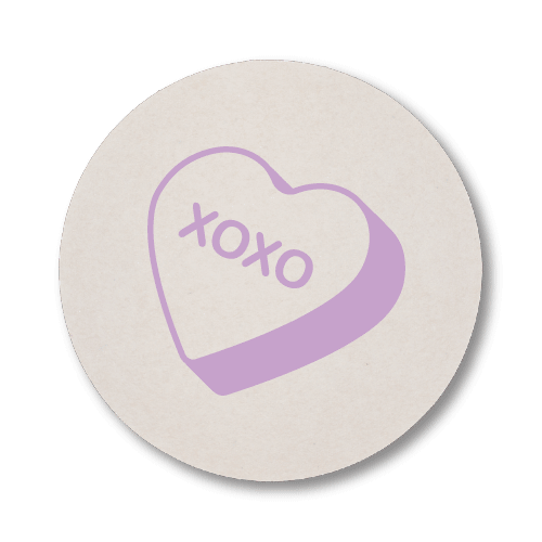 Candy Heart Coasters