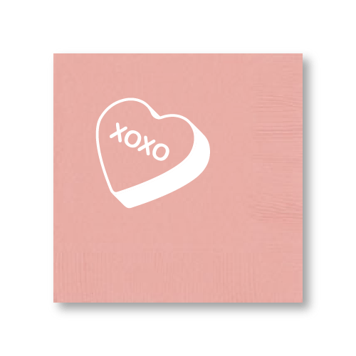 Candy Heart Cocktail Napkins